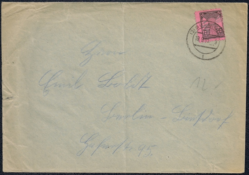 Deutsches Reich - Belege aus September 1945 1945-023