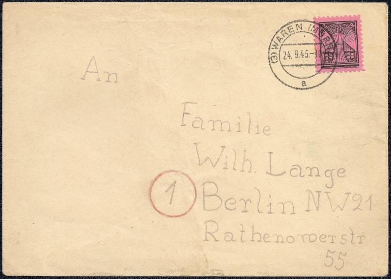 Deutsches Reich - Belege aus September 1945 1945-027