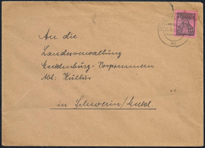 Deutsches Reich - Belege aus September 1945 1945-031
