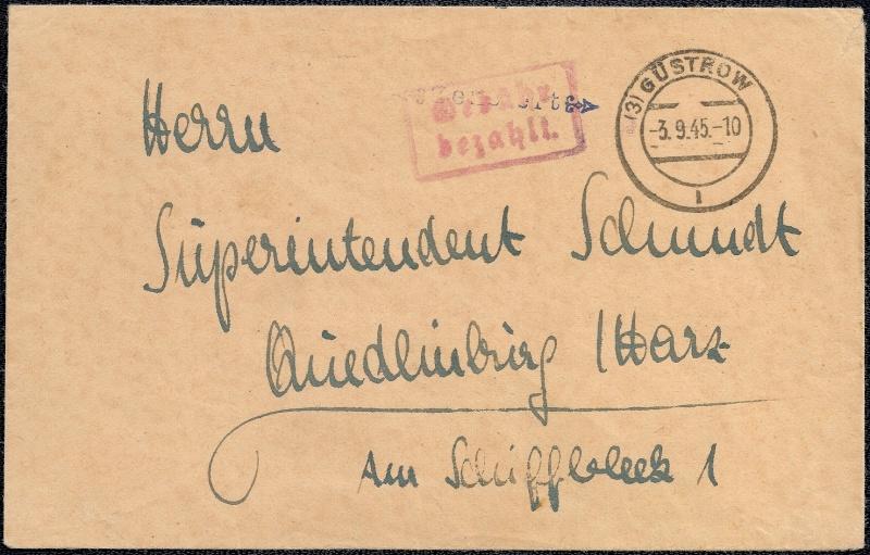 Deutsches Reich - Belege aus September 1945 1945-033