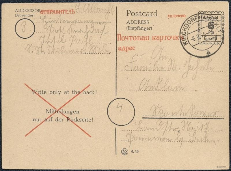 Deutsches Reich - Belege aus September 1945 1945-035