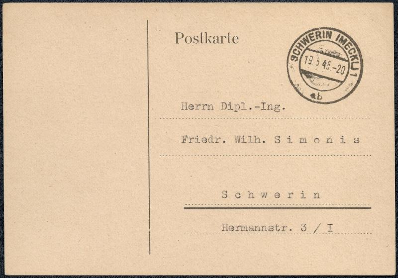 Deutsches Reich - Belege aus Mai 1945 1945-039