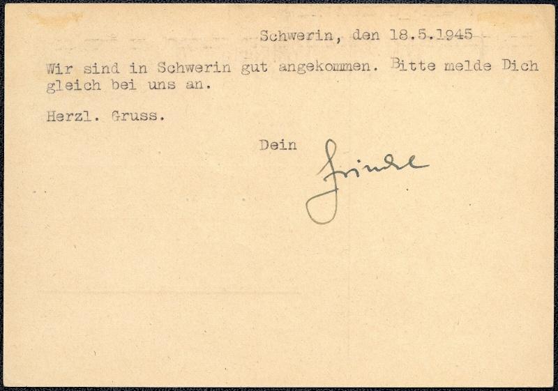 Deutsches Reich - Belege aus Mai 1945 1945-040