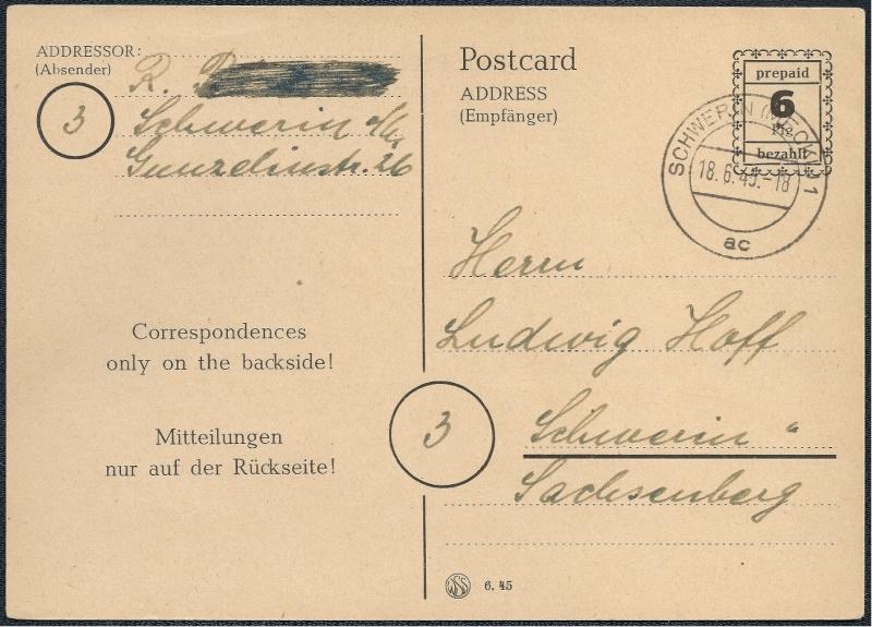 Deutsches Reich - Belege aus Juni 1945 1945-048