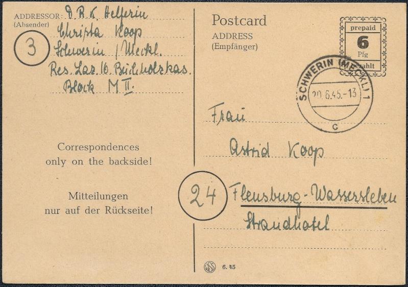 Deutsches Reich - Belege aus Juni 1945 1945-054