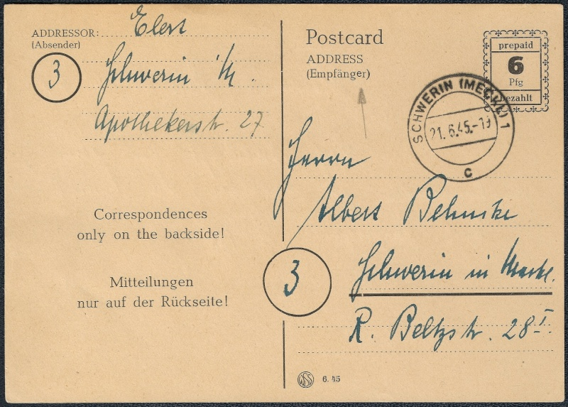 Deutsches Reich - Belege aus Juni 1945 1945-058