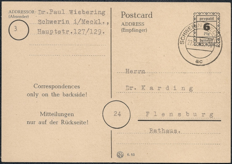 Deutsches Reich - Belege aus Juni 1945 1945-060