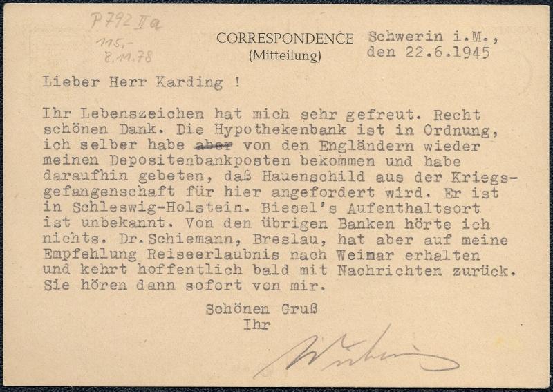 Deutsches Reich - Belege aus Juni 1945 1945-061