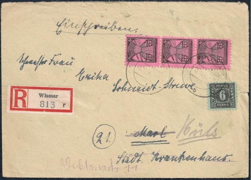 Deutsches Reich - Belege aus November 1945 1945-114
