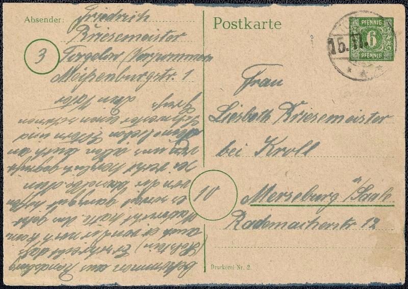 Deutsches Reich - Belege aus November 1945 1945-116