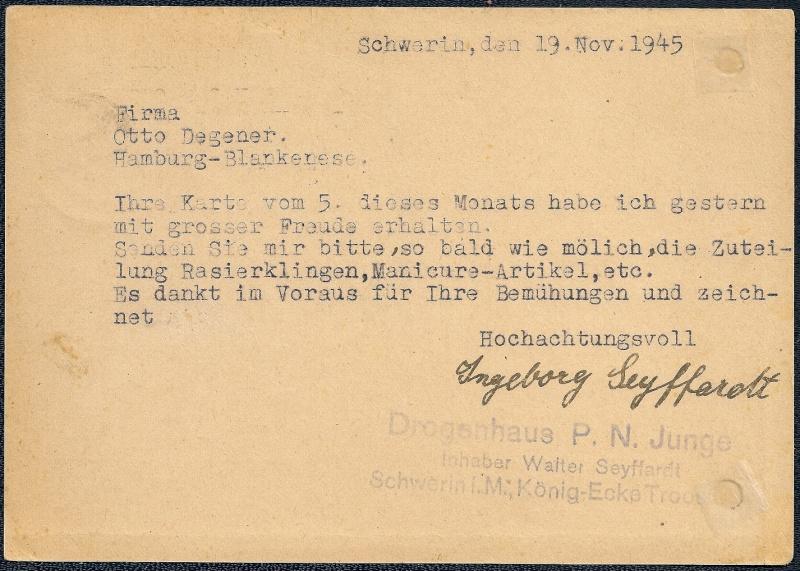 1945 - OPD Schwerin 1945 - 1952 (Teil 2) - Seite 2 1945-123