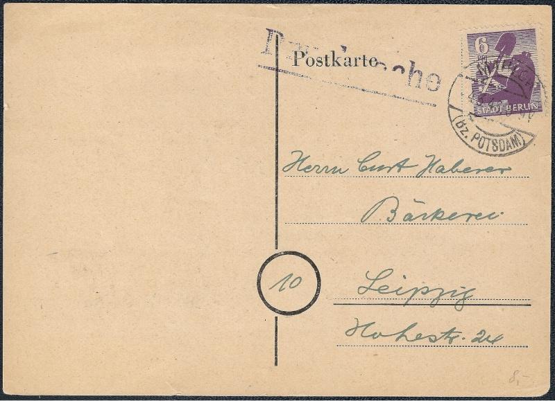 Deutsches Reich - Belege aus März 1946  1946-012