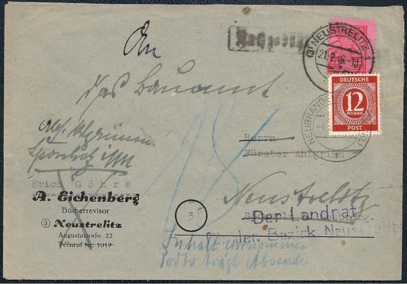Deutsches Reich - Belege aus März 1946  1946-016