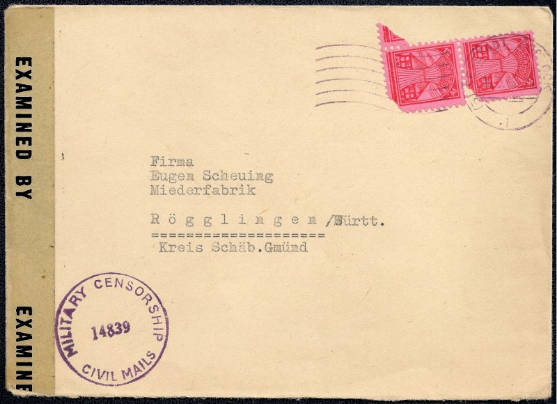Deutsches Reich - Belege aus März 1946  1946-018