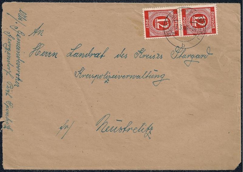 Deutsches Reich - Belege aus März 1946  1946-020