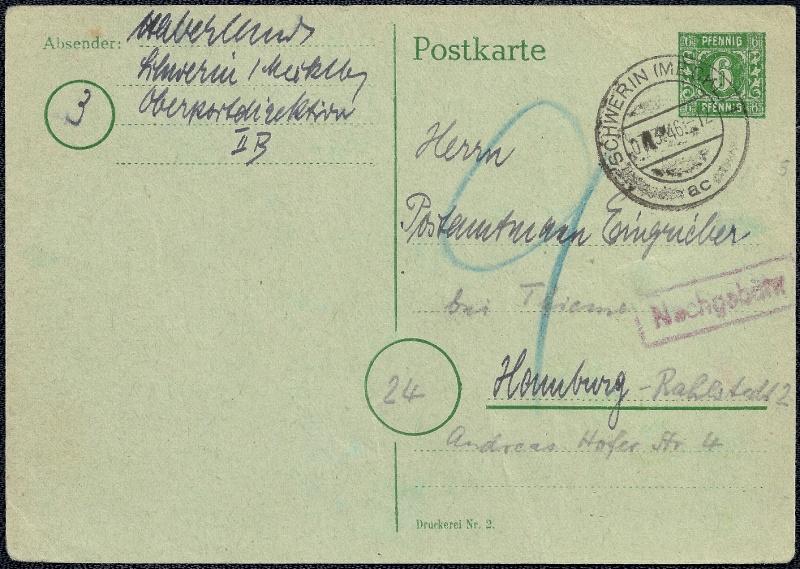 Deutsches Reich - Belege aus März 1946  1946-022