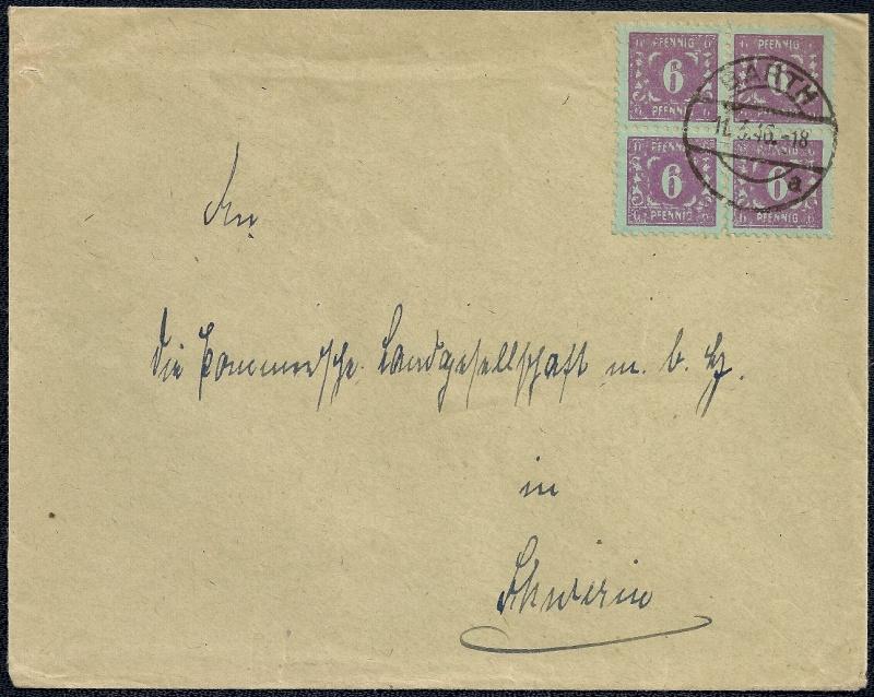 Deutsches Reich - Belege aus März 1946  1946-026