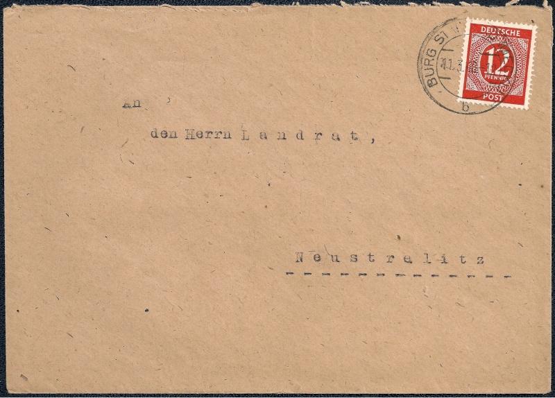 Deutsches Reich - Belege aus März 1946  1946-028