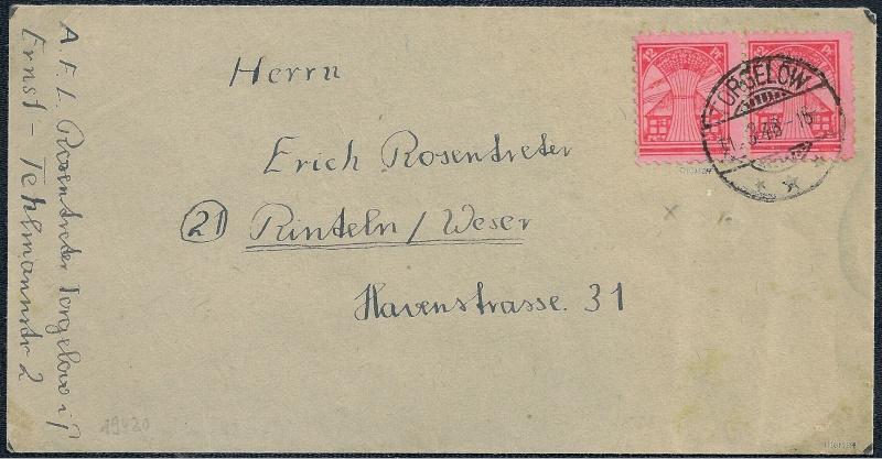 Deutsches Reich - Belege aus März 1946  1946-032