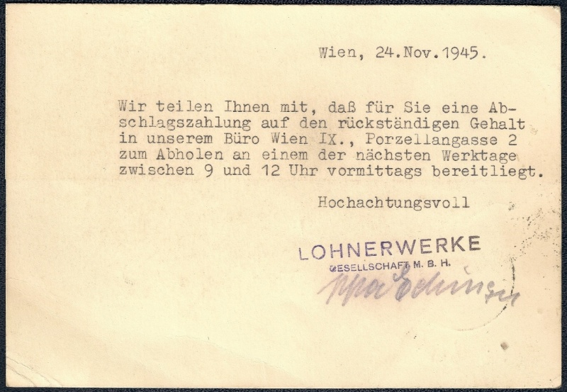 Deutsches Reich - Belege aus November 1945 211