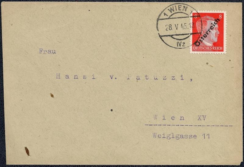 Deutsches Reich - Belege aus Mai 1945 510