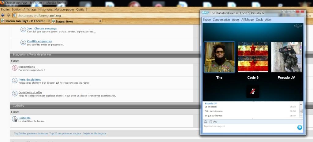 [plainte] Pseudo me ban et me demande de chanter sur skype pour me déban. Pseudo11