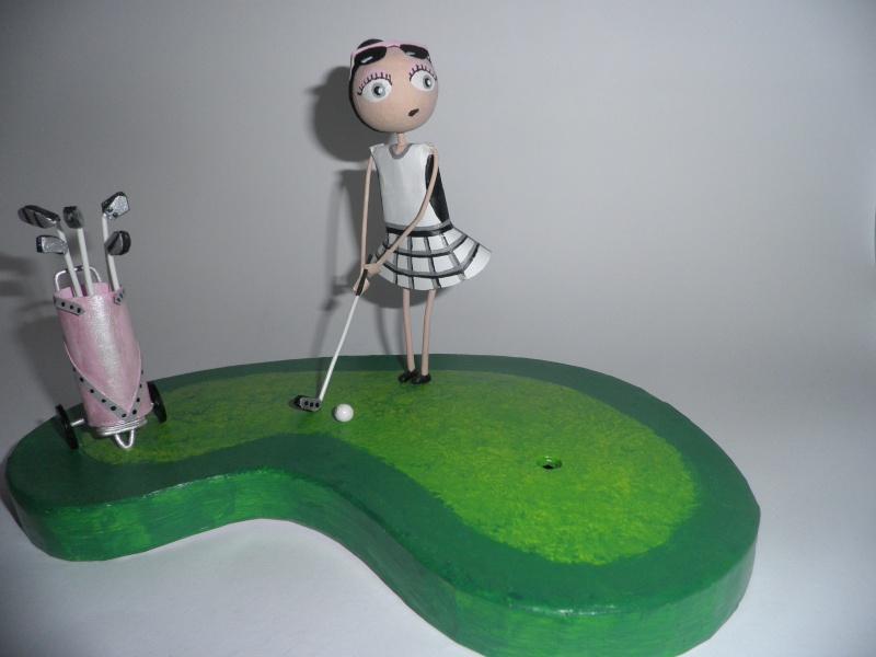 Clothilde sur le green P8240011