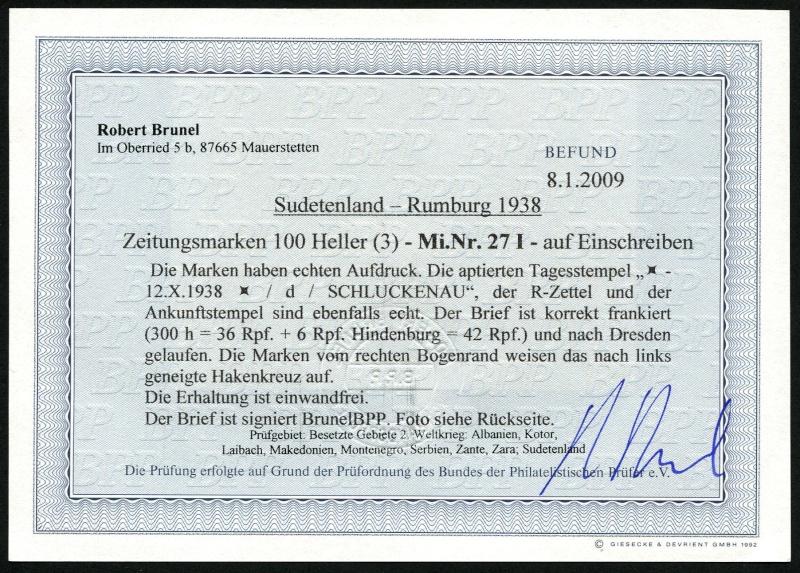sudetenland - Sudetenland - Ausgaben für Rumburg 27_pla10