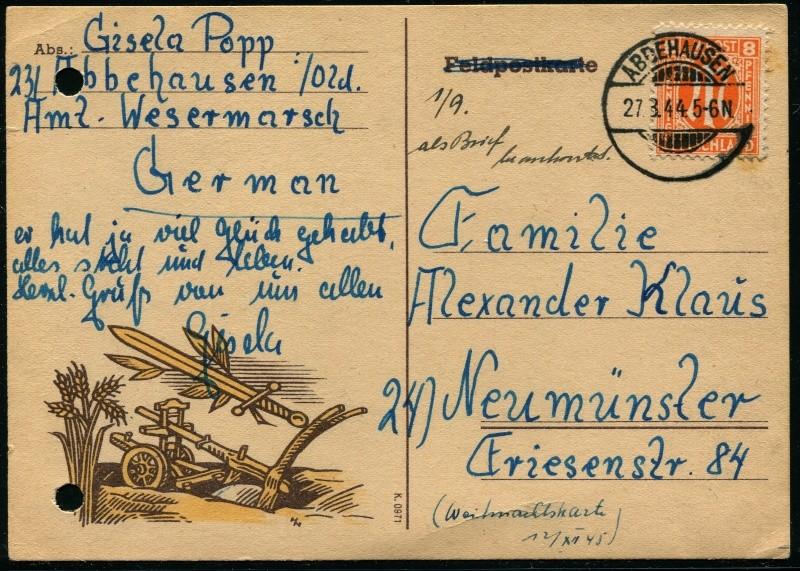 Deutsches Reich - Belege aus August 1945 4_fern12