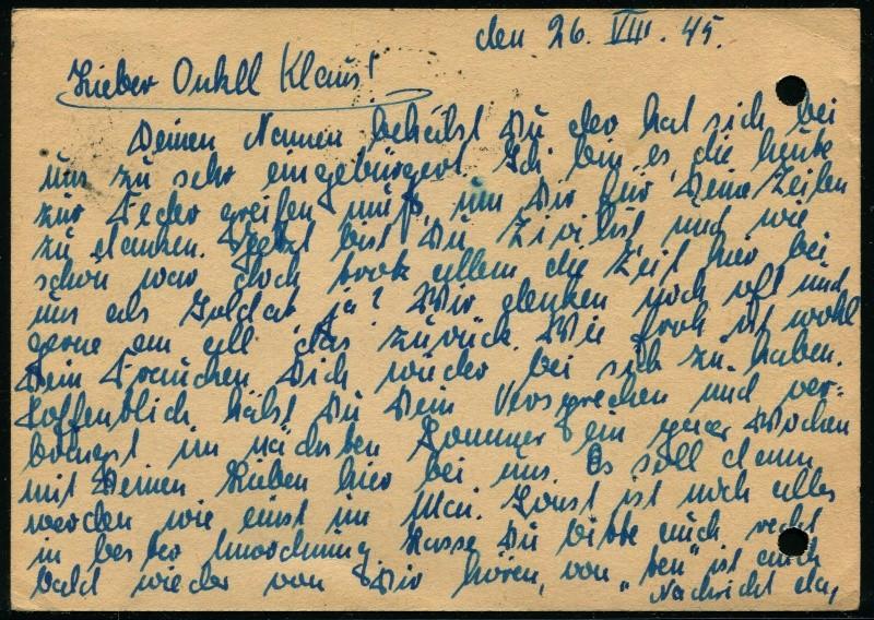 Deutsches Reich - Belege aus August 1945 4_fern13