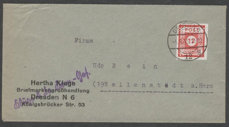 Deutsches Reich - Belege aus September 1945 Beleg_12
