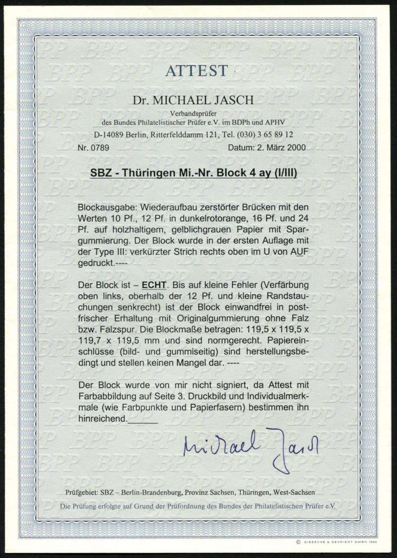 Thüringen (OPD Erfurt) -Sowjetische Besatzungszone- Block_20