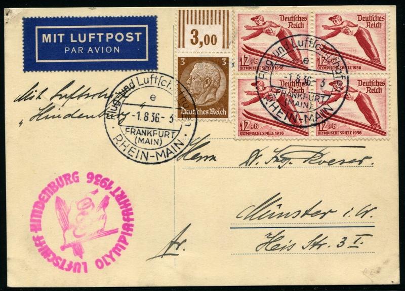 Zeppelinpost des LZ 129 Lz_12912