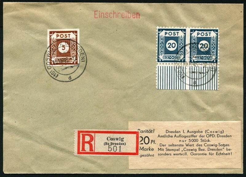 Deutsches Reich - Belege aus November 1945 Ostsac10