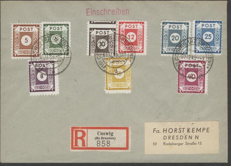 Deutsches Reich - Belege aus Dezember 1945  Ostsac11