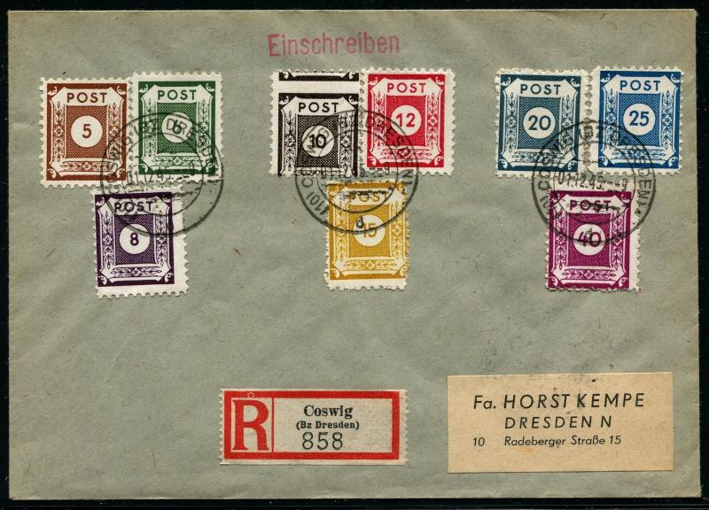 Ostsachsen (OPD Dresden) -Sowjetische Besatzungszone- Ostsac15