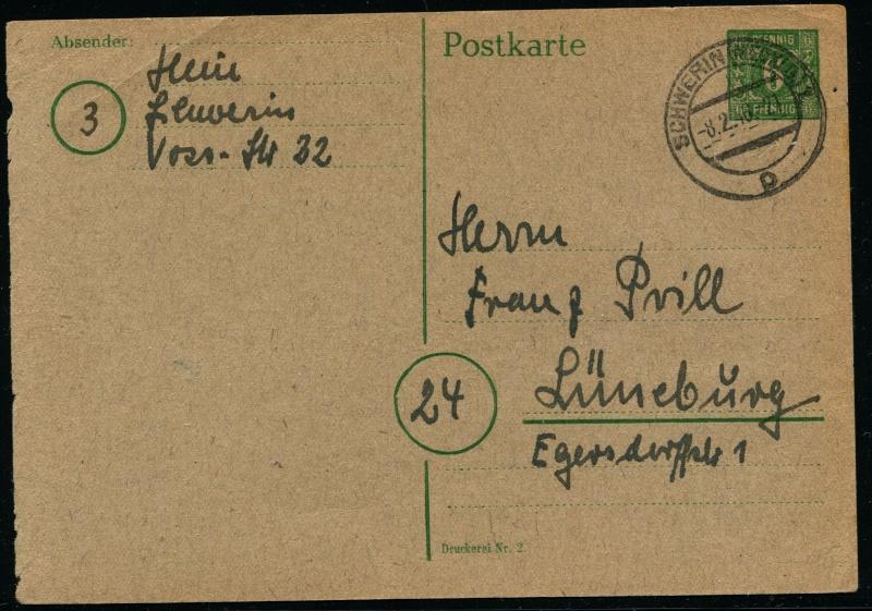 Mecklenburg - Vorpommern (OPD Schwerin) -Sowjetische Besatzungszone - Seite 7 Postka10