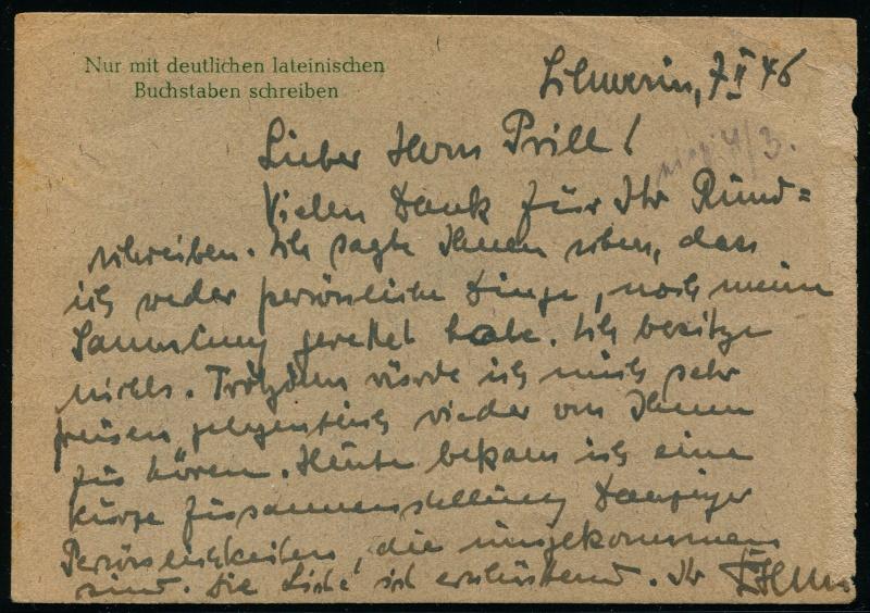 Mecklenburg - Vorpommern (OPD Schwerin) -Sowjetische Besatzungszone - Seite 7 Postka11