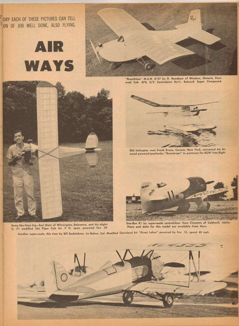 "Old Magazine Morning...""Another Model Airplane Hero"": Don McGovern's 'All Wet' column Flying Models 8/68 Jay_de13"