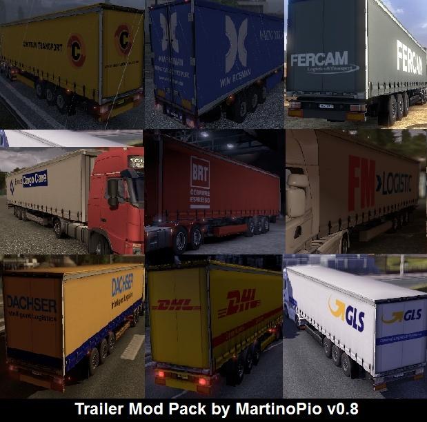 Aggiornamenti per la Mod Pack Trailer by MartinoPio v0.9 - Euro Truck Simulator 2 Antepr12
