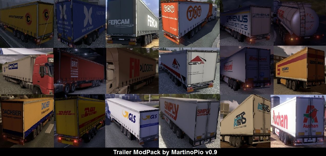 Trailer Mod Pack v0.9 by MartinoPio - Euro Truck Simulator 2 Antepr14