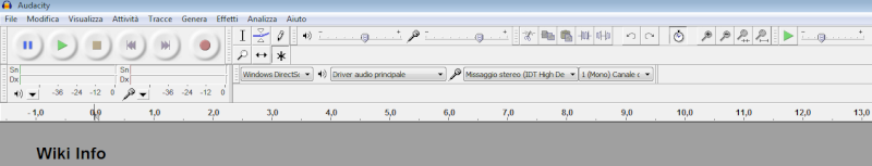 Audiacity registrazione audio pc (missaggio stereo) Audaci10