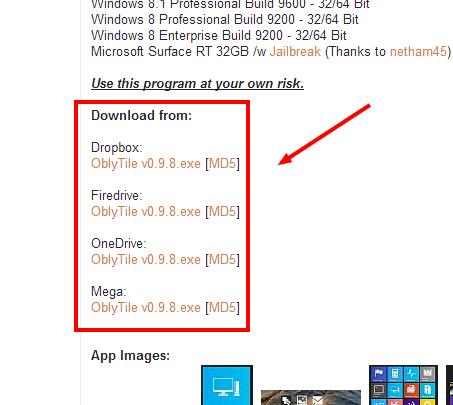 Creare collegamenti nella metro Windows 8 - OblyTitle Downlo12