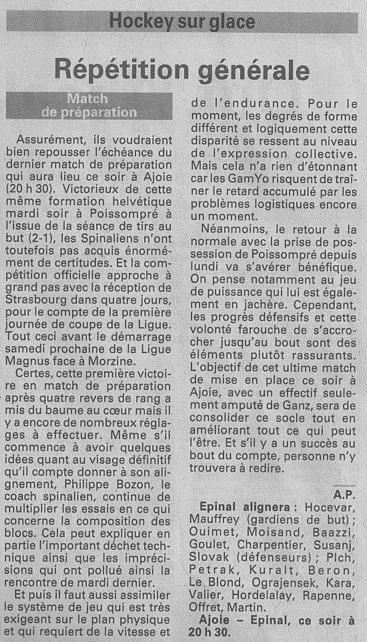 Vosges Matin article du :06/09/2014 09-09-10
