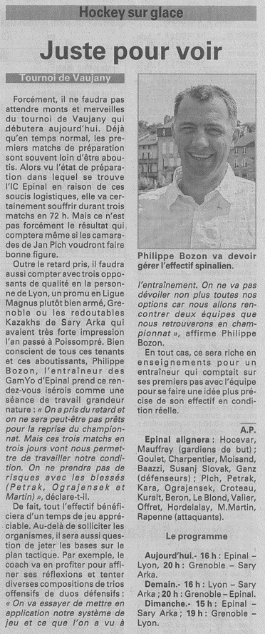 """Vosges Matin, article du 22/08/2014: """"Juste pour voir"""" Journa10"""