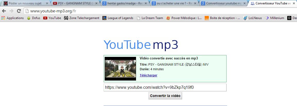 Tuto : Convertir une musique Youtube en format MP3 Conver12