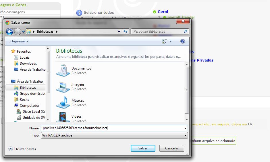 Nova funcionabilidade: Importar e exportar os templates do fórum Export10