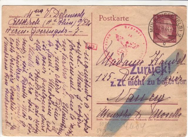 Tarif postal du 25 aout 1944 du Reich vers la France - méconnu des guichetiers et du peuples ?? 1002113