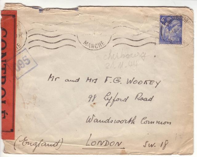 1944 une lettre contrôlée par la censure 1002610