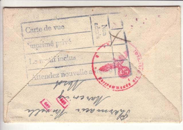 """Cachets """"Non admis"""" sur lettres contrôlées par l'ABP e. 13000310"""